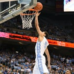 Tar Heels guard Marcus Paige scores two of his 15 points