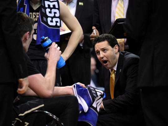 Vanderbilt Commodores head coach Bryce Drew during