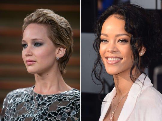Jennifer Lawrence, Rihanna