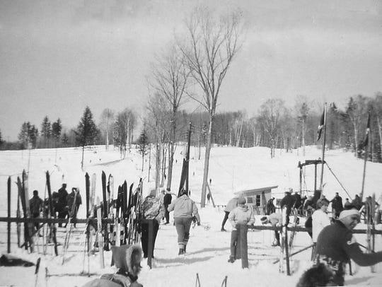 A 1961 view of the base of Okemo Ski Resort.