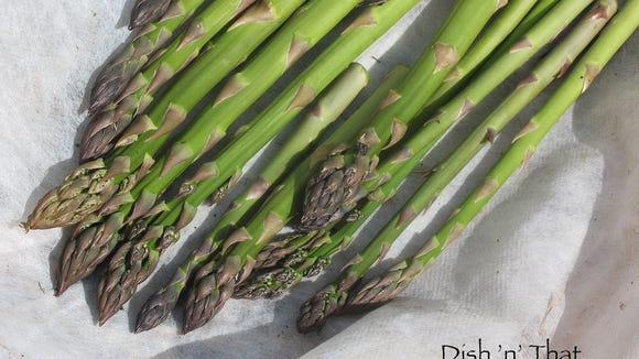 Now in its third year, the asparagus bed is producing delicious spears.
