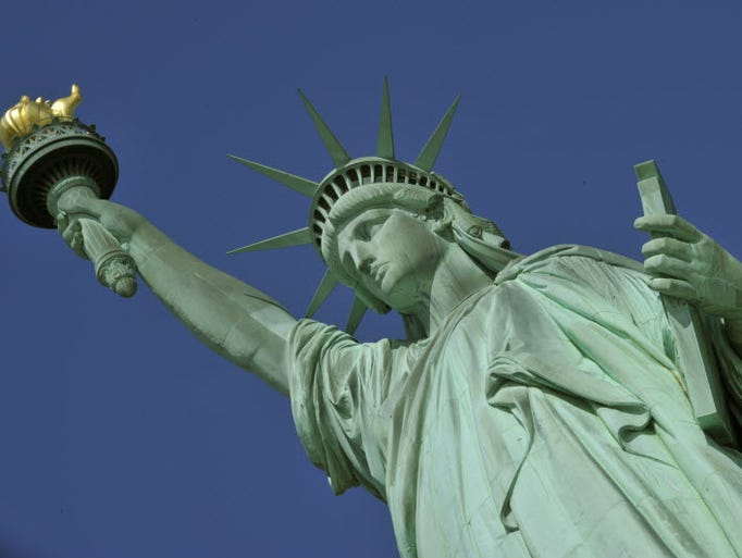 Climate change is putting historic and cultural landmarks around the USA at risk, according to a report by the Union of Concerned Scientists, including the Statue of Liberty in New York City.