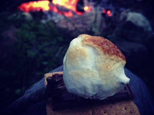 En route to the perfect s'more.