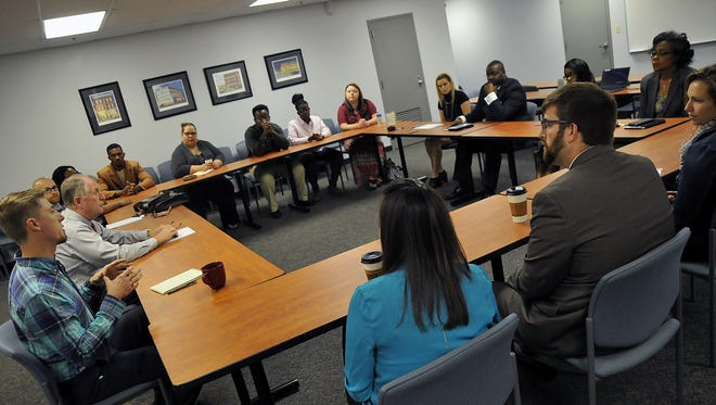 A gathering of area leaders in the 25 to 45 age group met Thursday at the News Journal to discuss diversity.