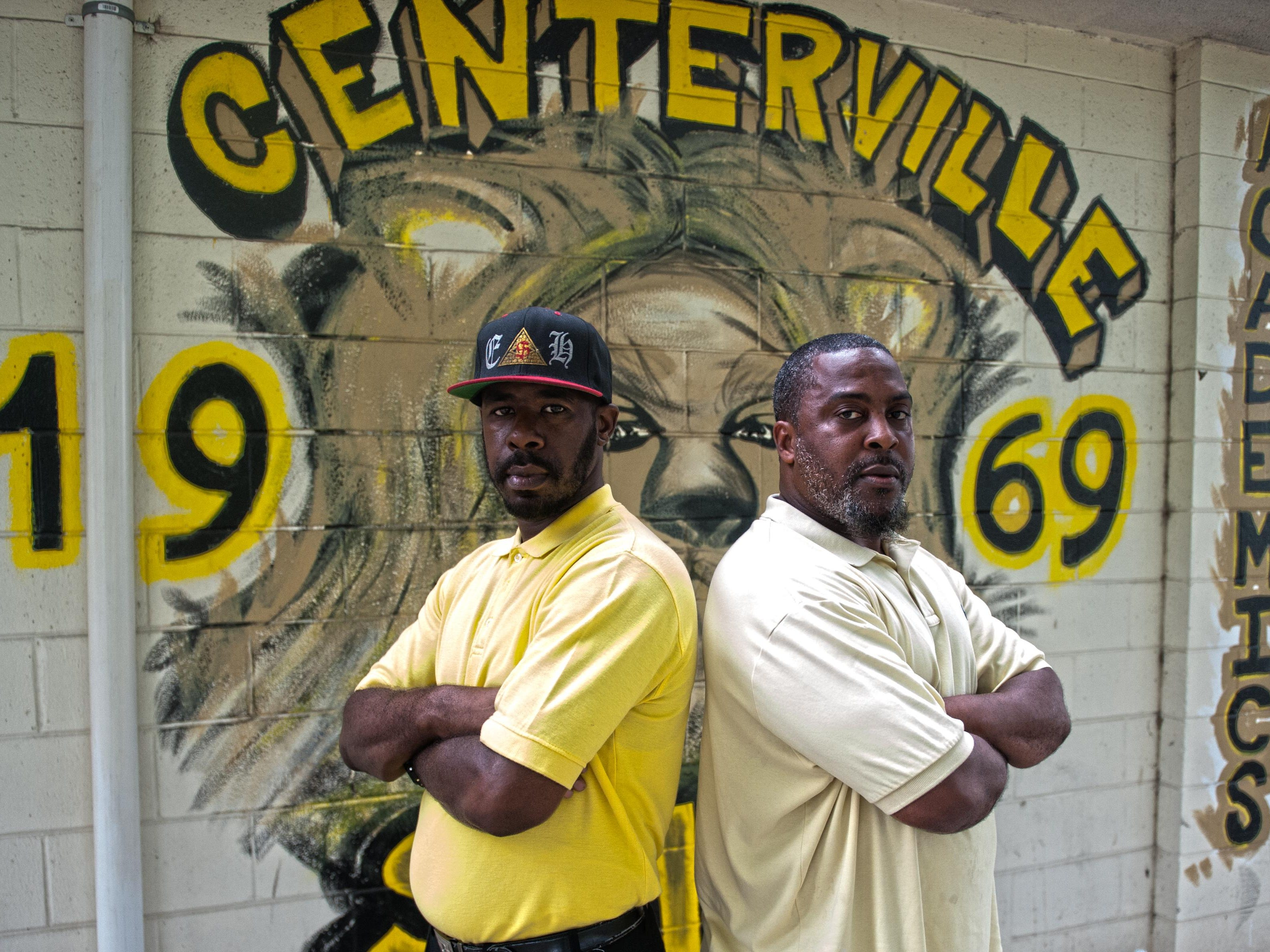 Rashaan Hornsby (left) and Rasheed Pollard of Camden will hold a football camp on Saturday. Jose F. Moreno Courier-Post
