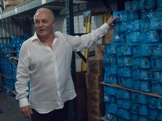 Owner Tony Jacobs describes Damian's rise from a little family owned lemonade shop on Barrancas Avenue in the mid 1970s to a national distributor of major ice cream names over the years during a walk through the company's frozen storage supply Thursday, June 22, 2017.