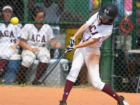 Alabama Christian's Haley Pittman bats against Bibb