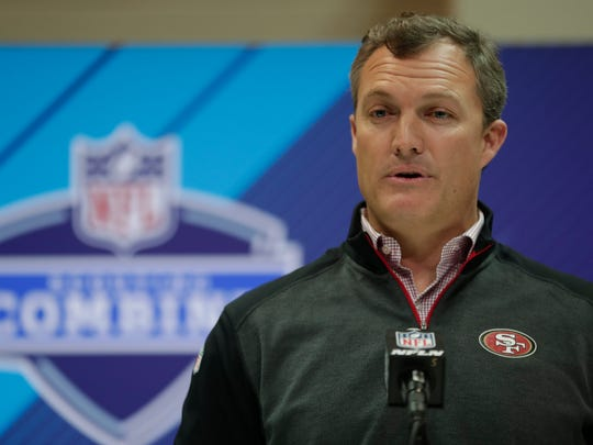 San Francisco 49ers general manager John Lynch said the meetings are valuable, but just part of a long draft process.