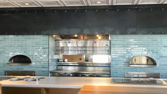 The kitchen inside Doughbird. On the menu at the casual, full-service establishment will be a rotating selection of roasted meats and eclectic pizzas for both dine-in and carryout.