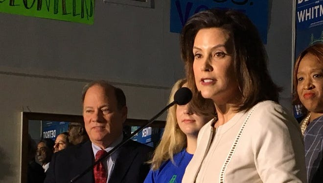 Gretchen Whitmer was endorsed by Detroit Mayor Mike Duggan on Wednesday, Feb. 28, 2018.