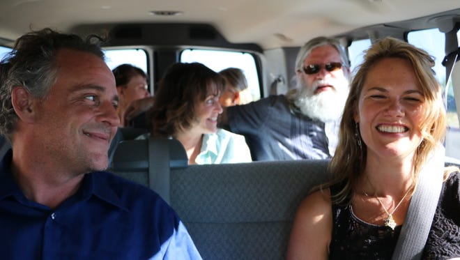 Patients of Beyond Borders Dental are pictured in June in a 12-passenger van on the way to Puerto Palomas de Villa, Mexico. Beyond Borders Dental is a Santa Fe-based business that operates a van service that takes residents to dental clinics in the small border town in Mexico.