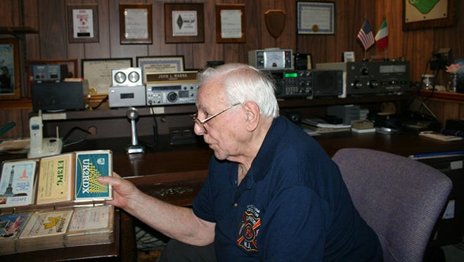 John Manna built his first radio from a kit with a friend.