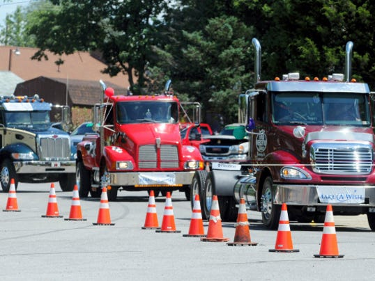 The Make-A-Wish Truck Convoy rolls through Franklin County Saturday, to the delight of young passengers and their parents. The event, which also includes a car and truck show, raises money for Make-A-Wish of Greater Pennsylvania and West Virginia.