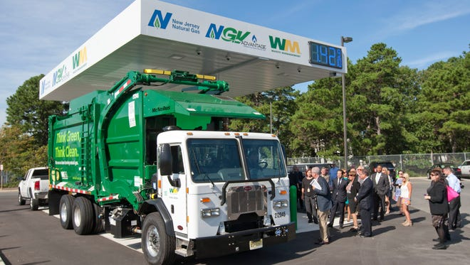 Opening of the first public natural gas fueling station in Ocean County at the Waste Management facility off Route 37 in Toms River.