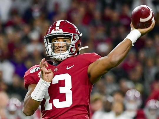 Tua Tagovailoa is a rarity in the NFL: a left-handed quarterback, something the league hasn't had in several years.