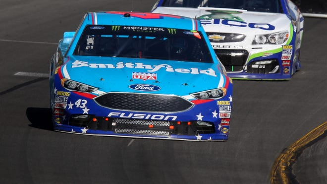 Darrell Wallace Jr. finished 26th in his first race in NASCAR's top circuit.