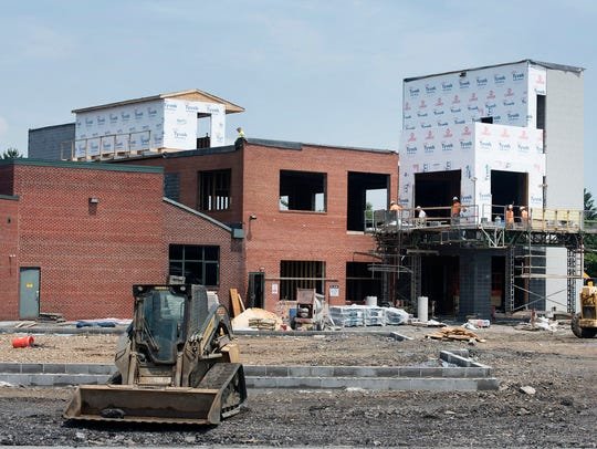Construction continues at Grant Street Loft on Thursday,