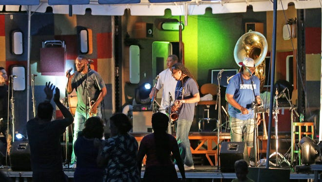 The Rebirth Brass Band has the crowd on their feet Aug. 11, 2016, at the John Michael Kohler Arts Center in Sheboygan. The band is part of the Levitt AMP Sheboygan Music Series.