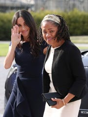 Meghan Markle, left and her mother, Doria Ragland,