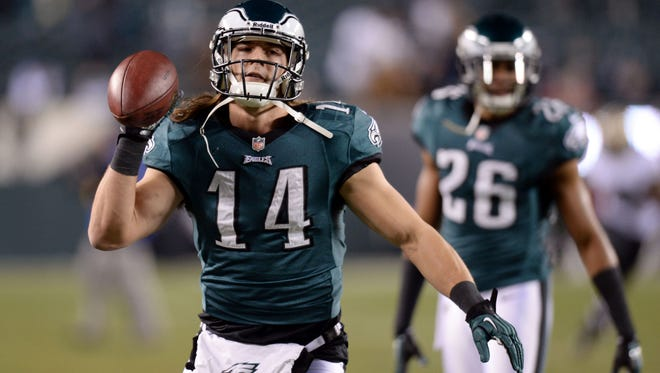 Eagles WR Riley Cooper had some big catches -- but one major drop -- in what may have been his final game as an Eagle.