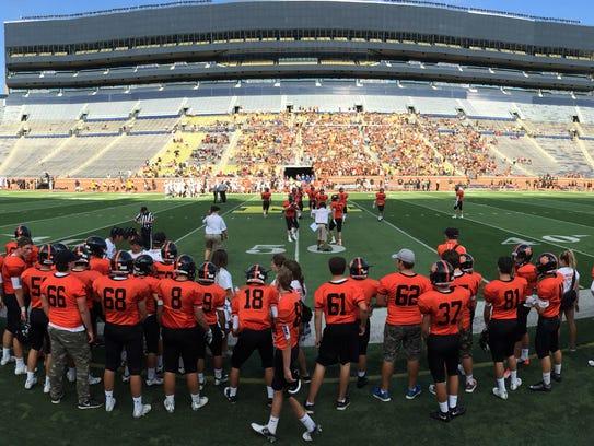 Brighton is returning to Michigan Stadium to open its