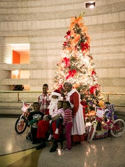 A visit with Santa Claus at the Charles H. Wright Museum