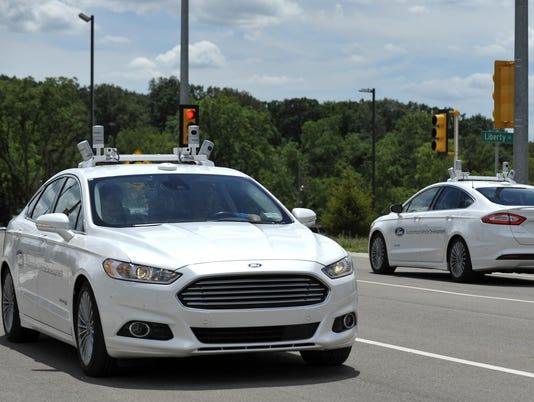 ford self-driving cars FILE
