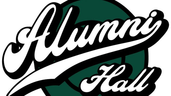 The Alumni Hall MSU logo. The college apparel and merchandise store will open at Eastwood Town Center.
