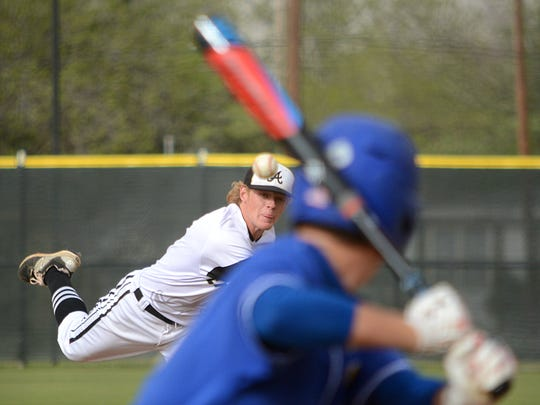 Abilene High's Andrew Ezzell throws a pitch during