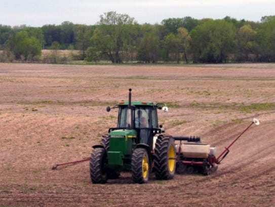 Bob back into the second field … notice the tractor
