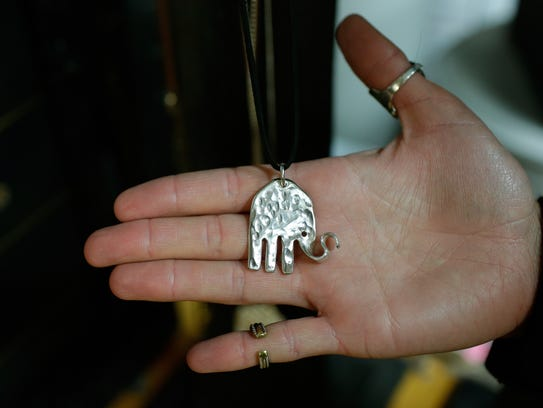 Her animal designs, like this elephant made from a