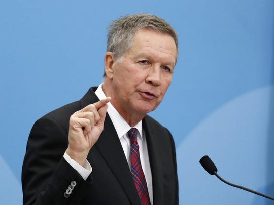 Ohio Gov. John Kasich speaks at The City Club of Cleveland in this Tuesday, Dec. 4, 2018, file photo.