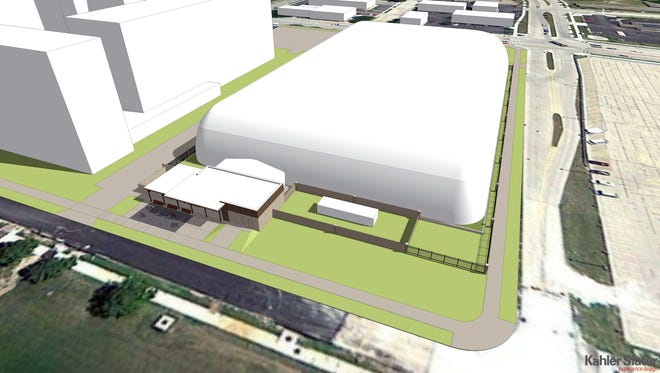 An artist's rendering shows what the University of Wisconsin-Oshkosh Intramural Recreation Field Complex will look like.