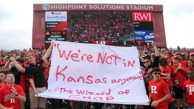 Rutgers football fans celebrated Homecoming last season with a win against Kansas.