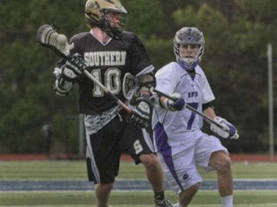 Southern's Shawn McManus takes a shot against Rumson-Fair Haven in the boys lacrosse SCT final on May 13. Asbury Park Press Photo by Staff Photographer Peter Ackerman