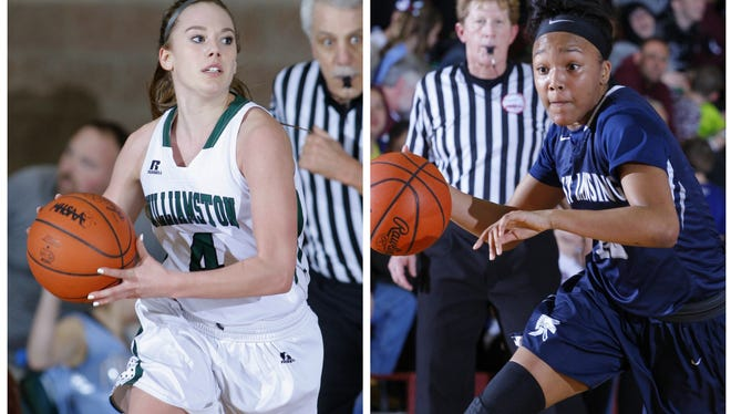 Maddie Watters, left, and Williamston face Jaida Hampton and East Lansing in a matchup of two of the area's top teams Tuesday.