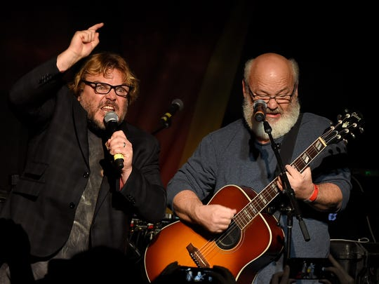 Jack Black, left, and Kyle Gass of Tenacious D perform