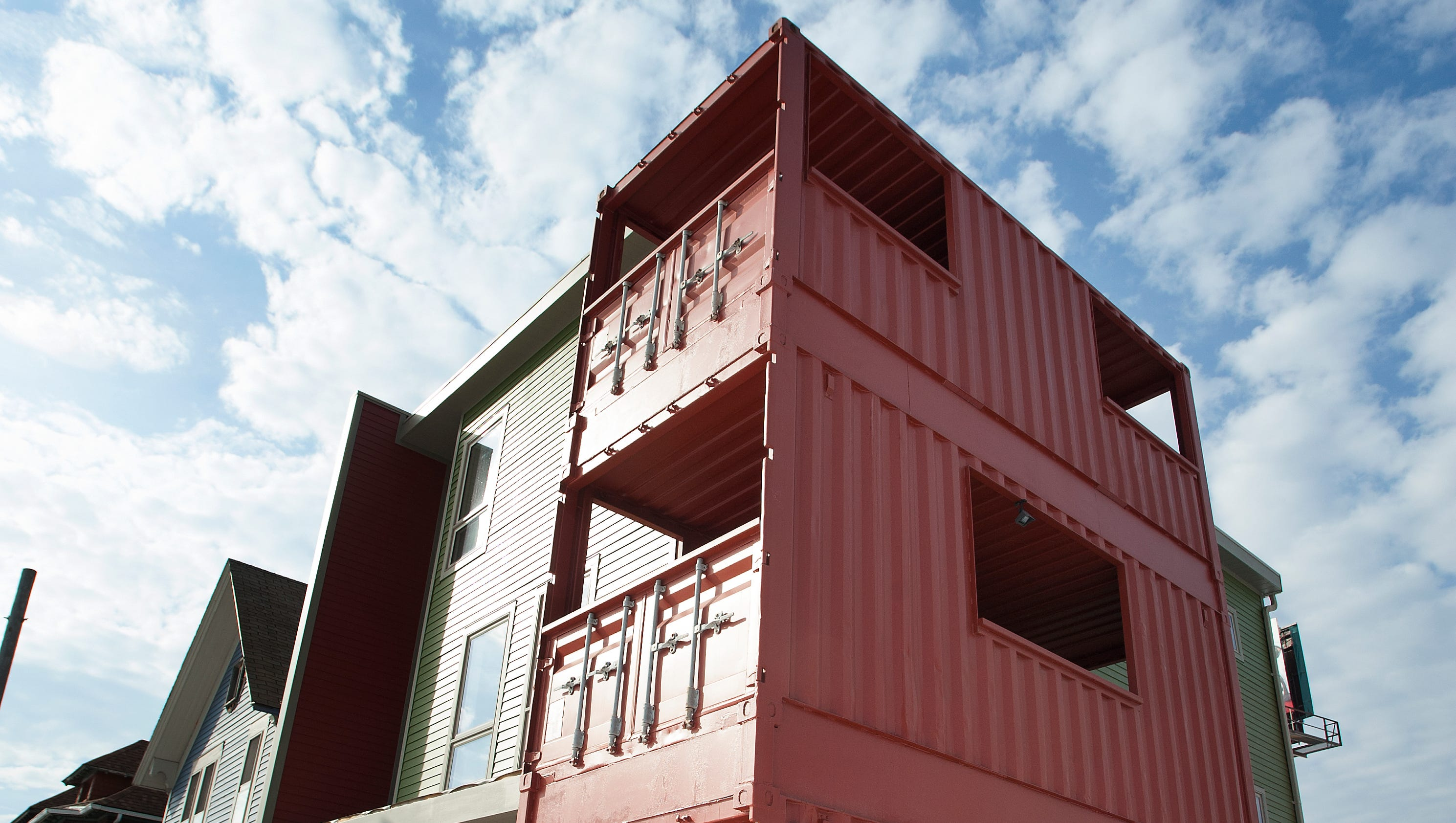 shipping container model homes in corktown