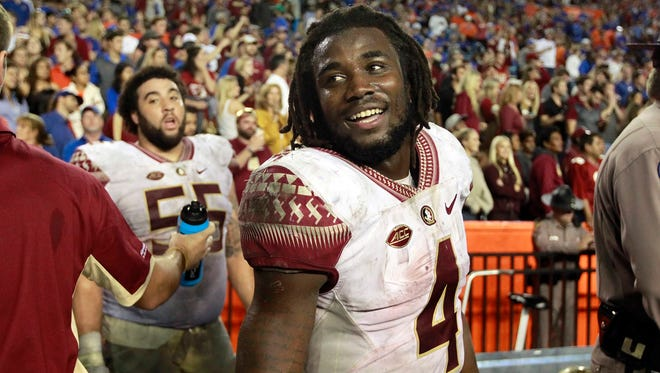 Dalvin Cook has rushed for 1,658 yards and 18 touchdowns for Florida State in 2015.