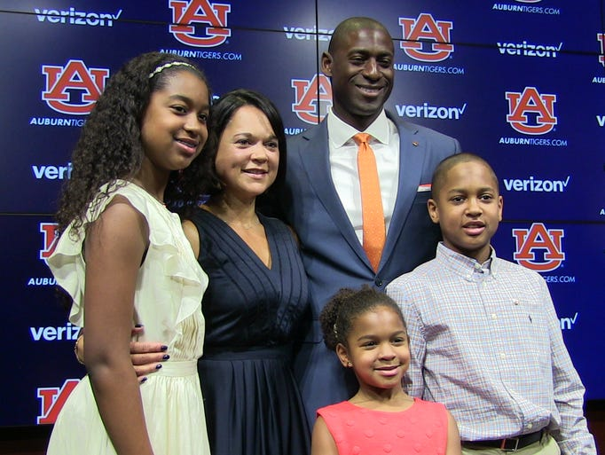 New Auburn athletic director Allen Greene takes a photo