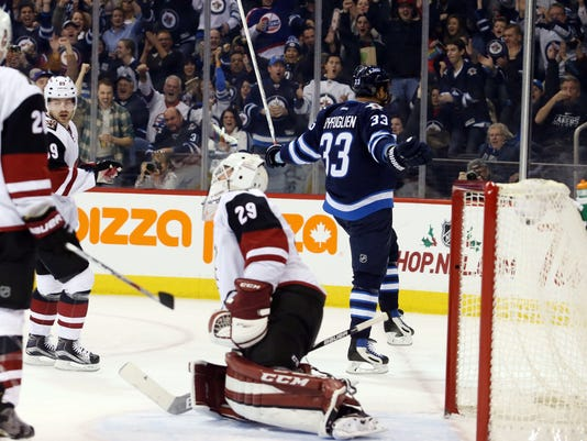 NHL: Arizona Coyotes at Winnipeg Jets