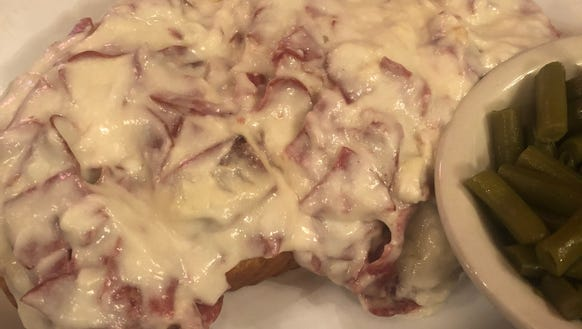 The chipped beef dish at the Alpine Inn.