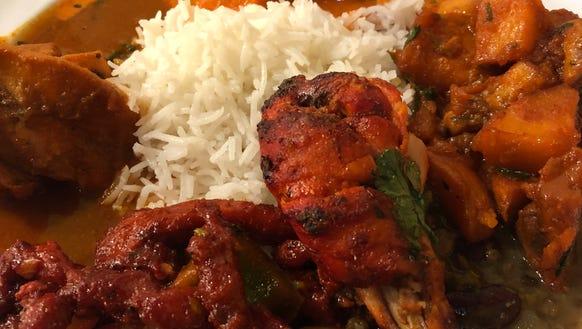 Everest Indian Cuisine buffet includes chicken tikka