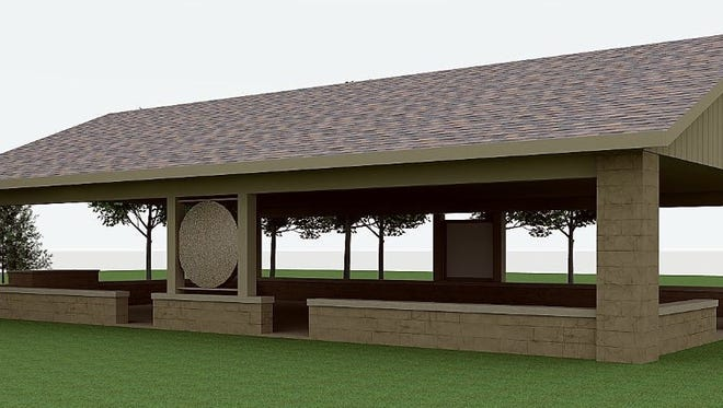 This is a rendering of what the Outdoor Education Pavilion at Harmonie State Park will look like when completed this summer.