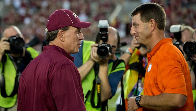 Florida State and Clemson both get bye weeks before meeting up on October 29.