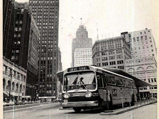 Downtown Detroit, 1974.