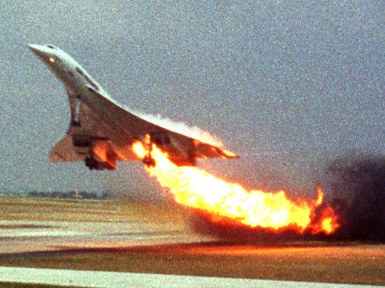 In this July 25, 2000, photo, Air France Concorde flight