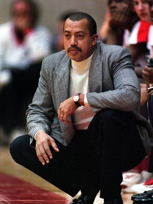 From 1998 --   North Central High School boys basketball head coach Doug Mitchell watches his team against Anderson High School at North Central High School