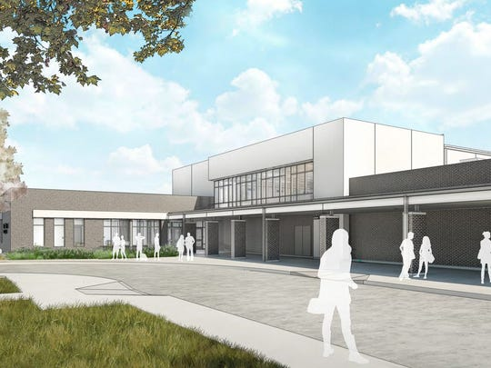 This rendering shows plans for the new Billeaud Elementary in Broussard.