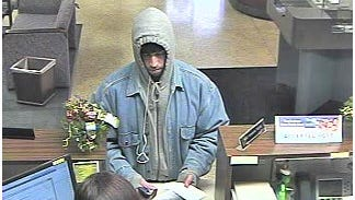 Video at the Old National Bank in downtown Winchester captured this image of the man who robbed the bank Tuesday afternoon.